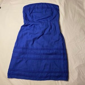 Old Navy blue strapless dress for summer